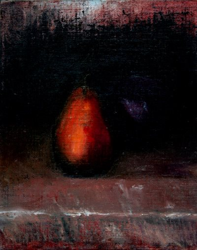 William Eric : Pear and apple in low light & shadow, 2006.