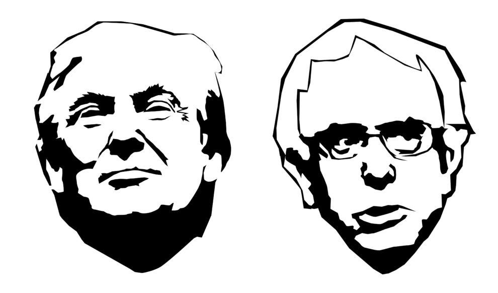 William Eric : Trump and Sanders, 2013.