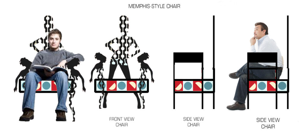 William Eric : Memphis scarf chair, 2014.